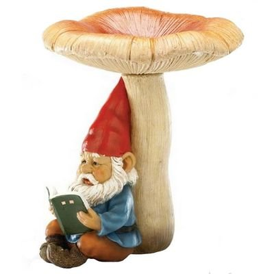 Rewarding Gnome Reading a Book Garden Ornament [E98427] Cleva G7 Edition