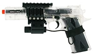 Soft Air Colt 1911 6-Inch Target Model Spring Powered Airsoft Pistol with Laser (Clear)