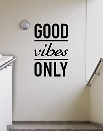 Stickerbrand inspirational quote vinyl wall art good vibes for What kind of paint to use on kitchen cabinets for vinyl removable wall art