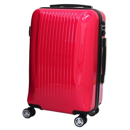 モア 超軽量ファスナータイプスーツケース Sサイズ DL2314 ピンク