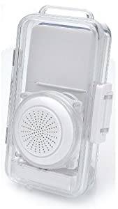 Splashproof Case With Built-in Speaker with External Volume Control for Apple iPhone 2G / 3G / 3GS /iPod/ iPod Touch, iPod Nano, Shuffle, or any MP3 Music Players with a 3.5mm Jack