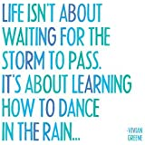 "Quotable Magnet- ""Life Isn't About Waiting for the Storm to Pass..."" Vivian Greene"