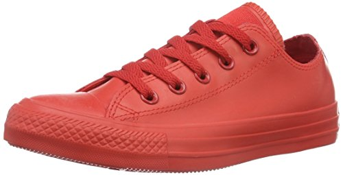 Converse Mens Chuck Taylor All Star Ox Rubber Fashion Sneaker Shoe, Red, 6