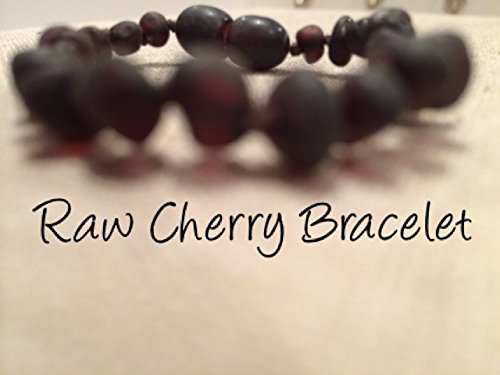 Baltic Amber Teething Bracelet For Babies And Toddlers Raw Cherry Certified Authentic. Anti-Inflammatory, Reduction Of Drooling, Red Cheeks, Teething Pain. Highest Quality front-855391