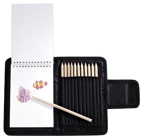 Darice Colored Pencil and Pad, Case Combo Set