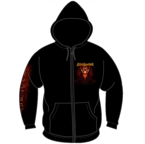 Blind Guardian - Red Dragon Mens Hoodie In Black, Size: X-Large, Color: Black
