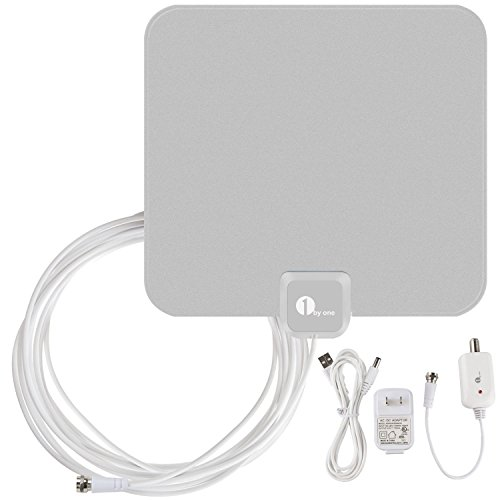 Find Cheap 1byone OUS00-0560 Amplified HDTV Antenna with USB Power Supply 16.5 Feet Coaxial Cable - ...