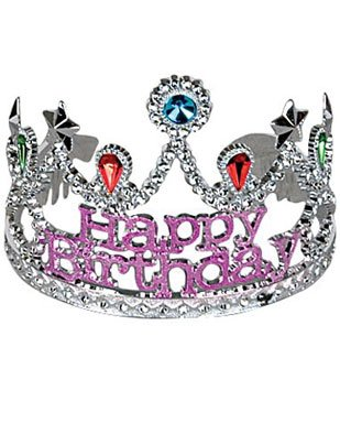 Happy Birthday Crown Tiara Princess Party Accessory Hat