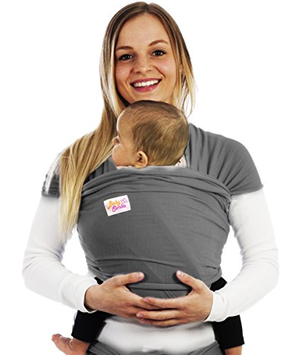 # SALE # Premium 4-in-1 Baby Sling Wrap for Tiny Ones to Toddlers / Our Best Baby Carrier Wrap Yet Offers Ergonomic Baby Comfort with Full Skeletal Support / A Great Baby Shower Gift , our Baby Wrap is 100% Guaranteed / Wrap Your Little One up in a Baby Sling Carrier designed For Little Smiles (GREY)