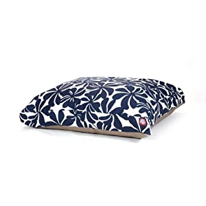 Majestic Pet Navy Blue Plantation Rectangle Pet Bed, Medium