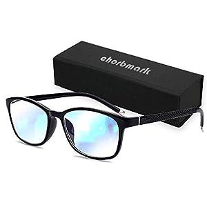 chorbmark ブルーライトカットPCメガネ UVカット メガネ用精密ドライバー付き ブラック