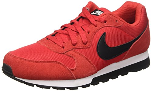 Nike Md Runner 2 Scarpe da corsa, Uomo, Multicolore (University Red/Black-White), 43
