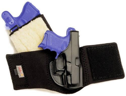 Galco Ankle Glove / Ankle Holster for Glock 26, 27, 33 (Black, Righthand)