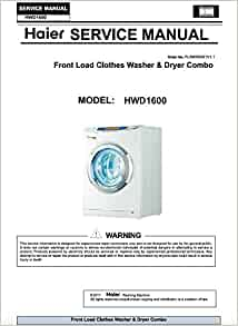 Hwd1600bw Hwd1600 Front Load Clothes Washer Amp Dryer