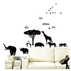 Great Value Wall Decor Black KID Africa Art Wall Paper Stickers DIY Mural Deco Decal Black from Mzamzi