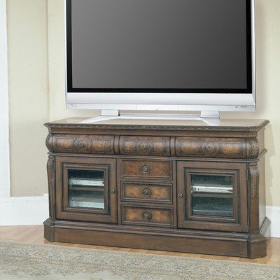 Cheap Andria 65″ TV Stand in Antique Pecan (AND605)