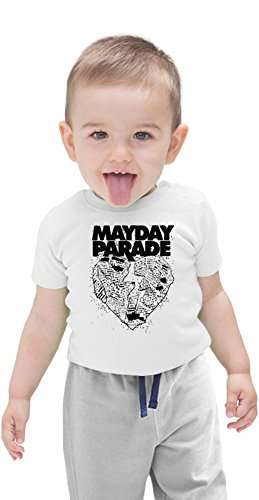 Mayday Parade Heart Logo Organic Baby T-shirt Stylish Organic Baby T-shirt Fashion Fit Kids Printed Clothes by Genuine Fan Merchandise 3-6 Months
