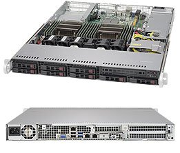 Supermicro SuperServer 1028R-TDW Barebone System - 1U Rack-mountable - Intel C612 Express Chipset - Socket R LGA-2011 - 2 x SYS-1028R-TDW