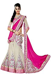 Khodiyar Creation Women Faux Georgette Lehenga Choli (3306-Pink _Pink _Free Size)