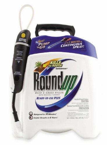 Roundup 5100110 1.33-Gallon Weed & Grass Killer Plus Pump 'N Go