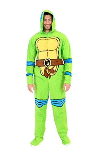 Teenage Mutant Ninja Turtles Leonardo Green Union Suit