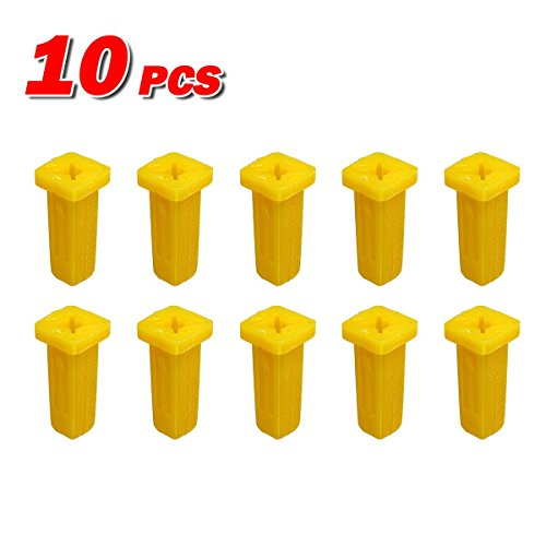 PartsSquare 10pcs Fender Liner Screw Grommet Fastener Rivet Push Clips Retainer for Lexus GS300 GS450 HS250 IS F IS250 LS400 LS430 LS460 LS600HL RX330 RX350 RX400 Toyota MR2 Land Cruiser Highlander (Lexus Fender Screws compare prices)