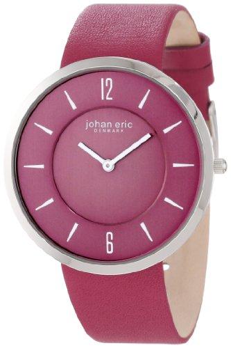 Johan Eric JE5001-04-001.14 - Reloj analógico de cuarzo para mujer con correa de piel, color morado