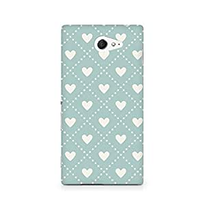 Motivatebox- Heart Vintage Premium Printed Case For Sony Xperia M2 S50h -Matte Polycarbonate 3D Hard case Mobile Cell Phone Protective BACK CASE COVER. Hard Shockproof Scratch-