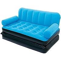 Karmax Bestway 67356 Three Seater Sofa cum Bed (Blue)