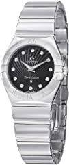 Omega Constellation Diamond Black Dial Stainless Steel Ladies