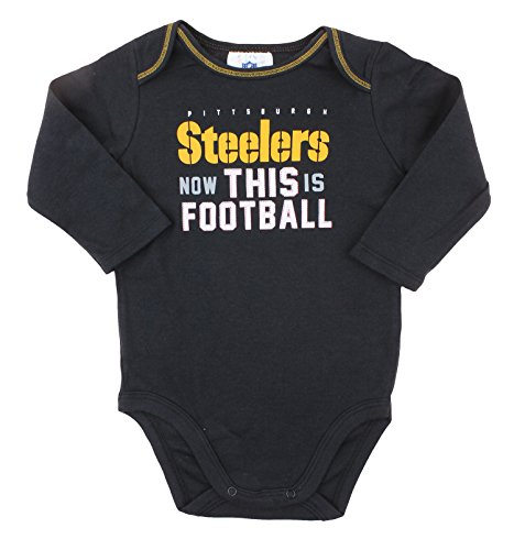 bd626c539a6 Pittsburgh Steelers NFL Unisex Baby Infant 2 Piece Bodysuit .