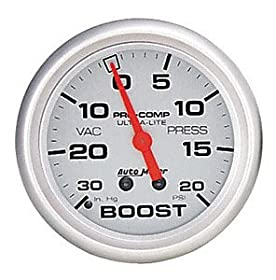 Auto Meter 4301 Ultra-Lite Mechanical Boost/Vacuum Gauge