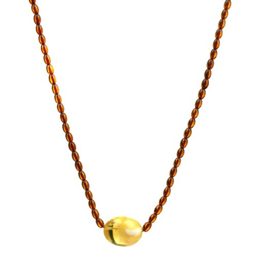 Baltic Honey Amber Berry Beads Ball Necklace, 18