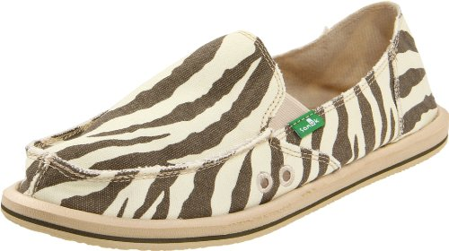 Sanuk Women's I'm Game Sidewalk Surfer Slip-On,Zebra,6 M US