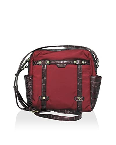 Tutilo Women's Studs and Stripes Cross-Body, Burgundy