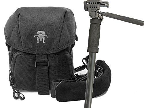 Progallio-Foto-Tasche-universal-Kameratasche-Typ-SOUTHBULL-CAMP-S-black-mit-Einbbeinstativ-180cm-und-Stativtasche