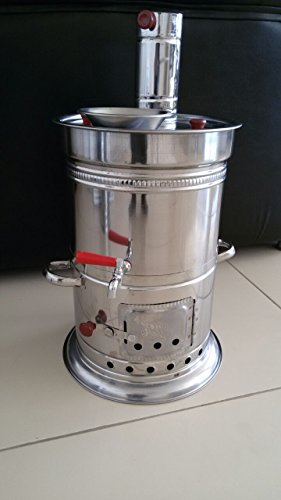 Samovar Camping Stove 7Liter/235 oz Coal&Firewood Water Heater Kettle&Barbecue (Fire Water Heater compare prices)