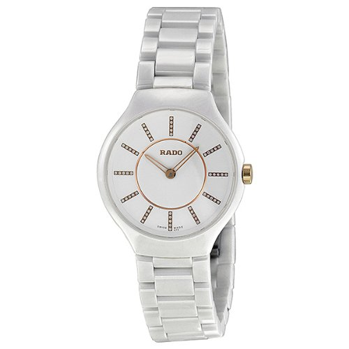 95e94b98fb0 Where to buy Rado Thinline Jubile White Ceramic Ladies Watch ...