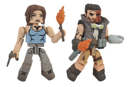 Diamond Select Toys Tomb Raider Lara Croft and Molotov Scavenger Action Figure, 2-Pack