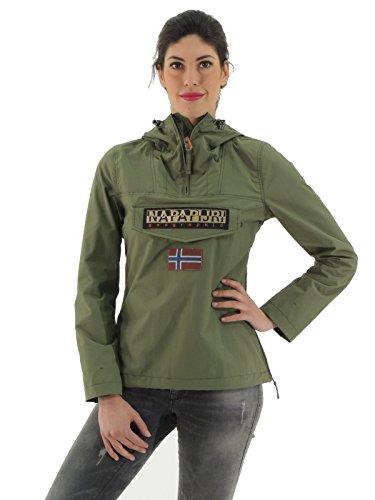 Napapijri - Rainforest Wo Summer, Giacca da donna, manica lunga, verde militare G74 scout, M
