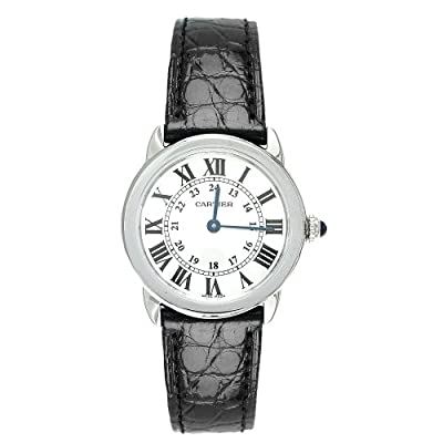 Cartier Women's W6700155 Ronde Solo Black Leather Watch from Cartier