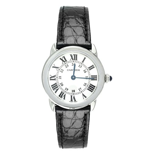 CARTIER RONDE SOLO DE CARTIER W6700155 LADIES STAINLESS STEEL CASE WATCH