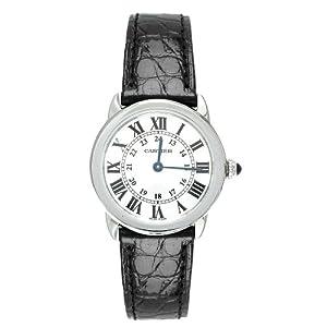 Cartier Women's W6700155 Ronde Solo Black Leather Watch