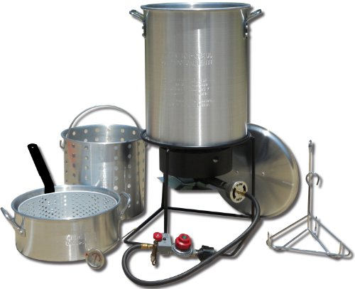 King Kooker 1265BF3 Portable Propane Outdoor Deep Frying/Boiling Package with 2 Aluminum Pots (Deep Fat Turkey Fryer compare prices)