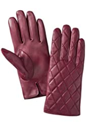 Merona Womens Quilted Red Leather Gloves