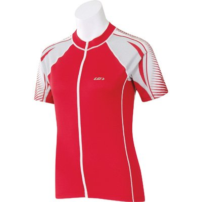 Image of Louis Garneau 2007 Women's Carbon Ion Short Sleeve Cycling Jersey - Carbon Red - 7820320-74R (B000K2N118)