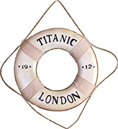 Titanic Life Ring London Nautical Decor Home Tropical Preserver