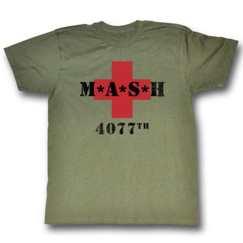 MASH 4077th M*A*S*H Vintage Green T-shirt Tee X-Large