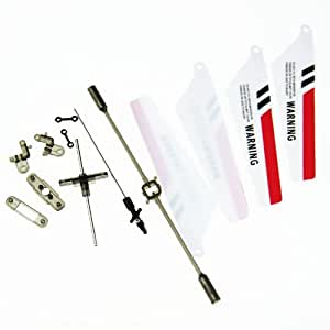 EiioX Syma genuine Quick Wear Blades Parts Set for Syma S107 RC Helicopter Red