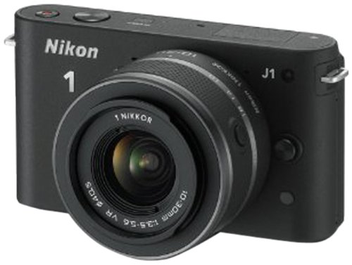 Nikon 1 J1 Compact System Camera with 10-30mm Lens Kit - Black (10.1MP) 3 inch LCD